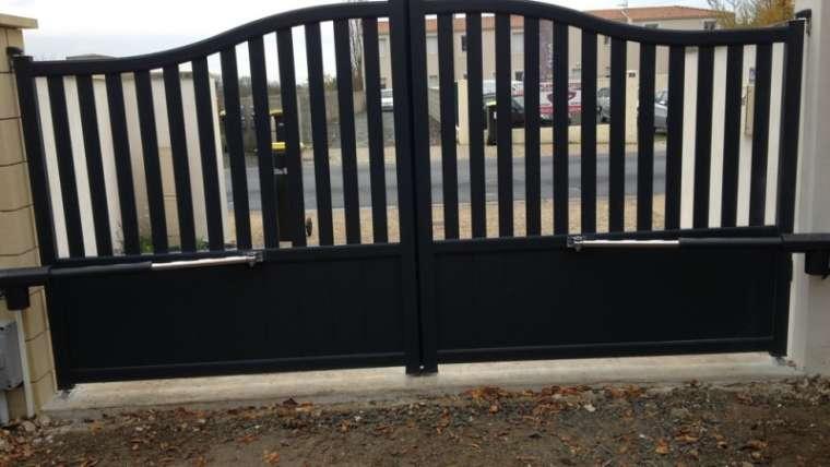 Installation d'un portail battant